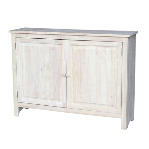 home depot cabinet wood international concepts solid wood hall cabinet in
