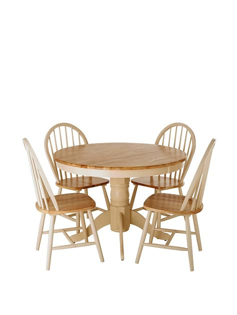 round dining table for 4 kildare round dining table and 4 chairs set very co uk