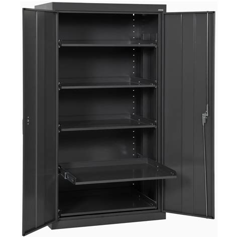 metal storage cabinets home depot sandusky 66 in h x 36 in w x 24 in d steel heavy duty