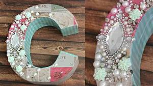 diy decoupage letters for your room decoden youtube With decoupage letters