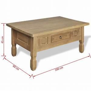 Table Basse Avec Tiroir : la boutique en ligne table basse en pin avec tiroir mexico ~ Teatrodelosmanantiales.com Idées de Décoration