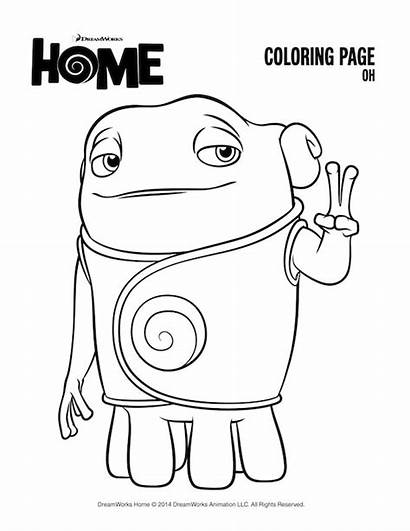 Coloring Pages Dreamworks Oh Disney Printables Printable