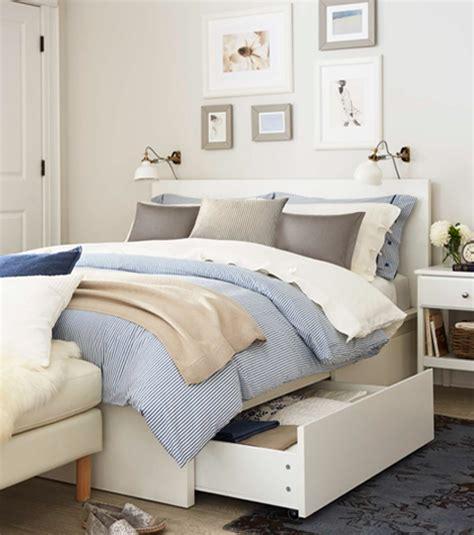 chambre malm malm structure de lit avec rangement grand 2 places