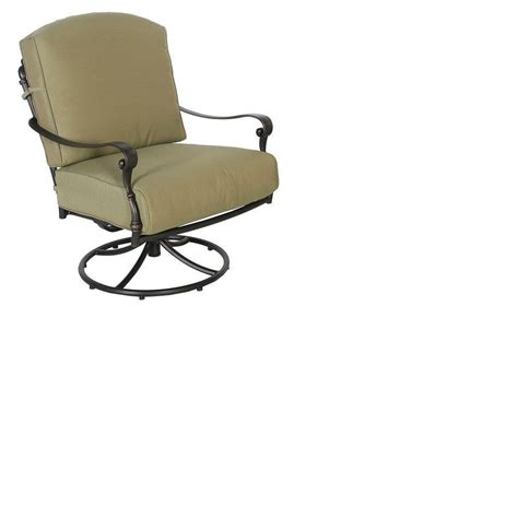 hton bay edington swivel rocker patio lounge chair with