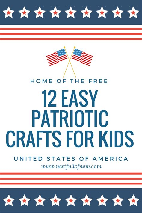 easy patriotic crafts  kids nest full