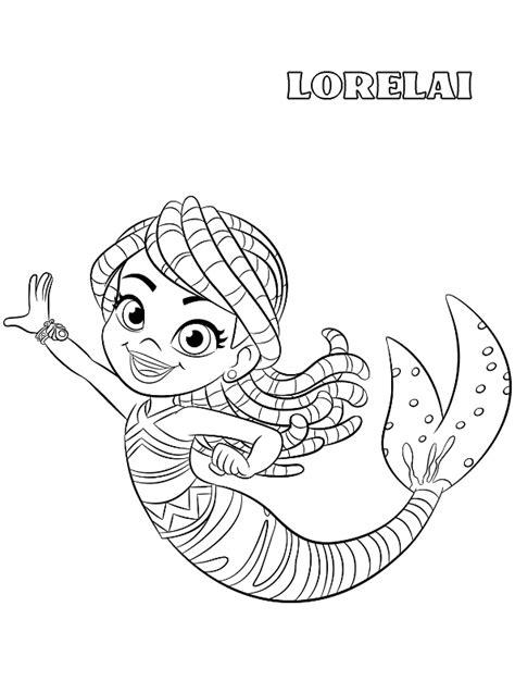kids  funcom coloring page santiago   seas mermaid lorelai
