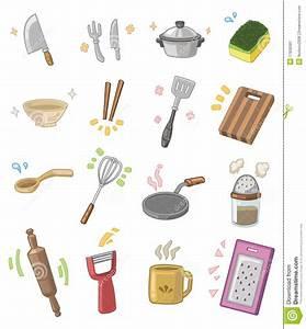 ustensiles de cuisine de dessin anime image stock image With dessin anime de cuisine