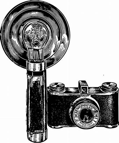 Camera Flash Clipart Antique Woman Cameras Openclipart