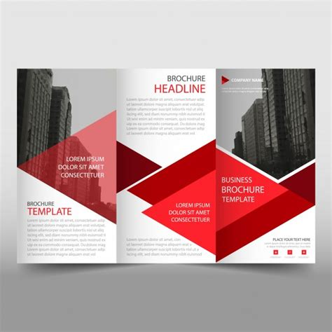 Free Business Brochure Template by And White Trifold Business Brochure Template Vector
