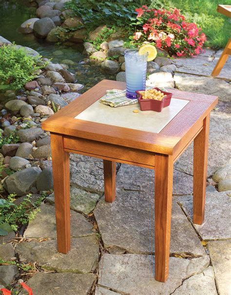 tile topped outdoor table popular woodworking magazine