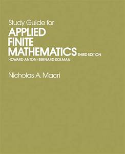 Study Guide For Applied Finite Mathematics By Nicholas A