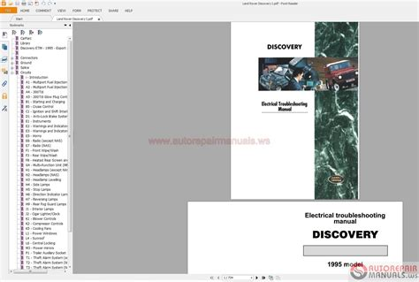 land rover discovery i 1995 electrical wiring diagram auto repair manual forum heavy