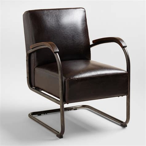 World Market Chairs Leather bi cast leather rhett cantilever chair world market