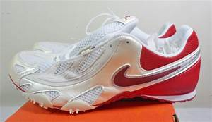 Nike Zoom Hj Red & White Track & Field Cleats Shoes Men's ...
