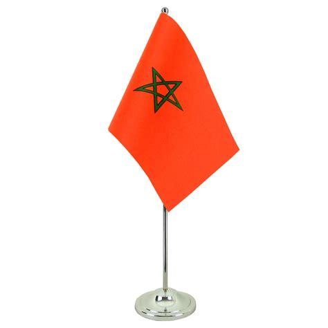 maroc bureau drapeau de table prestige maroc chromé monsieur drapeaux