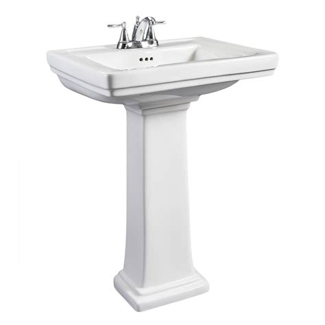 small ceramic kitchen sinks hathaway small white porcelain pedestal sink overstock 5360