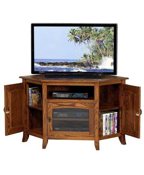 Types Of Chairs For Office by Young Mission Style 35 Corner Tv Stand Amish Direct