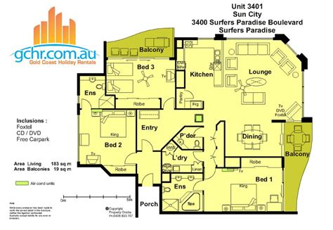 Sun City Apartment 3401, Surfers Paradise Accommodation