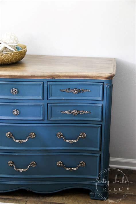 aubusson blue chalk paint dresser makeover