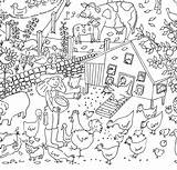 Farm Colouring Coloring Pages Poster Posters Printable Giant Children Seaside sketch template