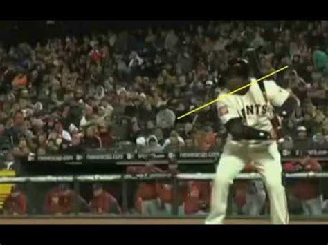 barry bonds baseball swing unique hitting analysis youtube