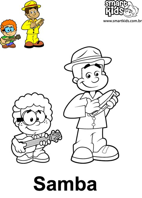 colorir desenho samba desenhos  colorir smartkids