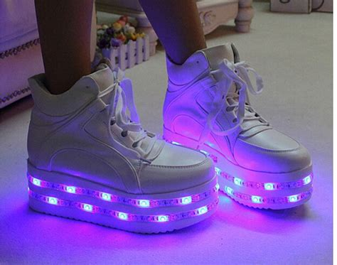light up sneakers for adults elevator led luminous shoe for platform light