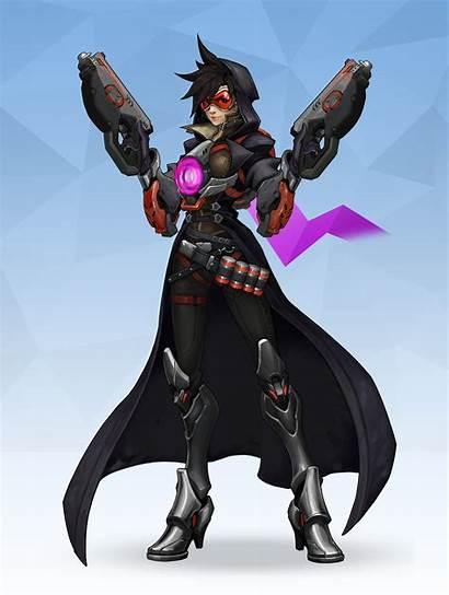 Overwatch Reaper Tracer Cosplay Female Dark Death
