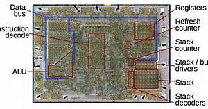 Analyzing The Vintage 8008 Processor From Die Photos  Its