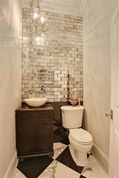 Mirrored Bathroom Wall Tiles by Saw The Mirrored Subway Tiles At Home Depot Peel And