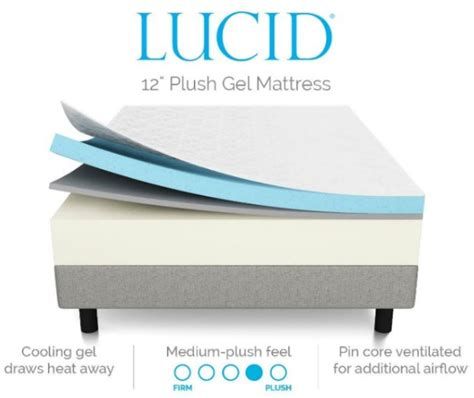 lucid 14 memory foam mattress lucid memory foam mattress review 10 inch 12 inch 14