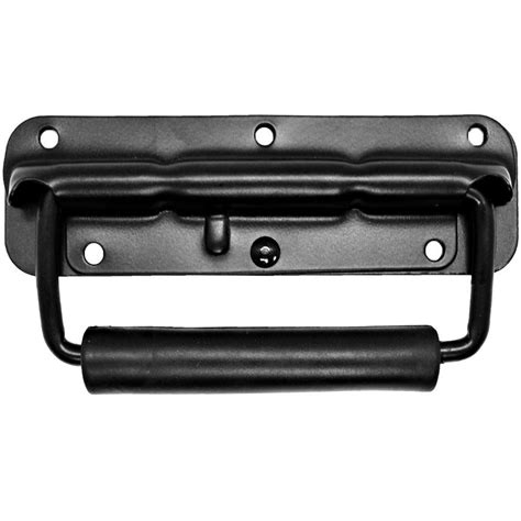 black surface mount spring loaded speaker handle rack handle seismic audio