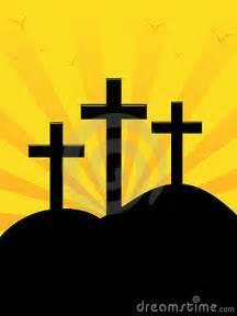 Three Crosses On a Hill Clip Art