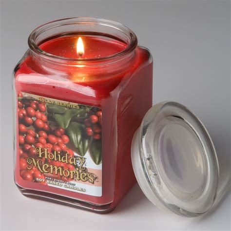 for every body soy jar candle large 17 oz holly berries
