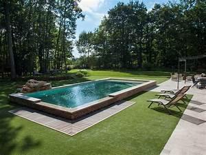 Piscine A Débordement : le d bordement par l 39 esprit piscine 9 50 x 4 50 m ~ Farleysfitness.com Idées de Décoration