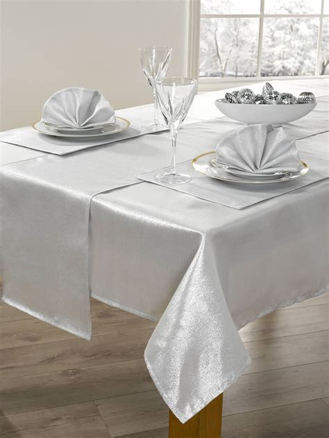 table cloth setting 14 piece christmas table linen set xmas table cloth seats 6 dinner party ebay