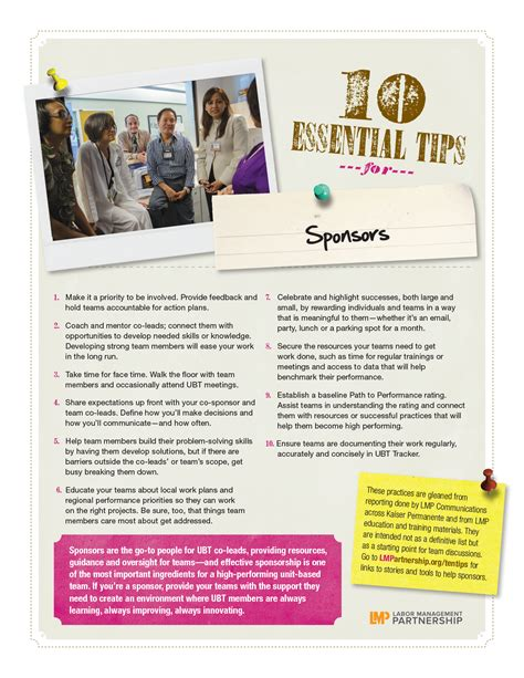 10 Essential Tips  Labor Management Partnership