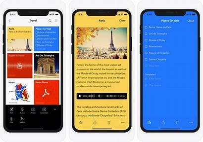 Ipad Iphone Notebook Evernote App Screenshot Alternatives