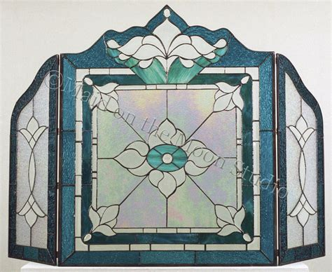 stained glass fireplace screen fireplace screens on the moon studio