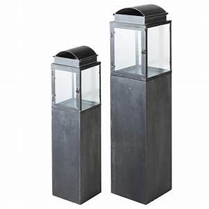 Laternen Für Aussenbereich : laternen set 2 teilig aus metall antibes maisons du monde ~ Markanthonyermac.com Haus und Dekorationen