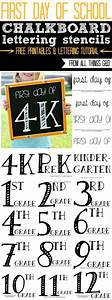 easy chalkboard lettering tutorial With chalkboard stencils printable
