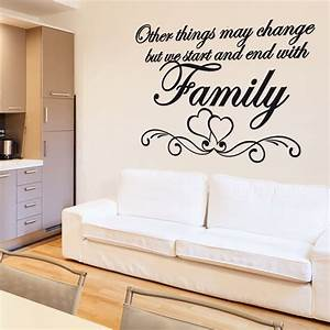Love heart family wall sticker quote chimp uk