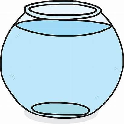 Bowl Water Glass Fish Clipart Vector Leer