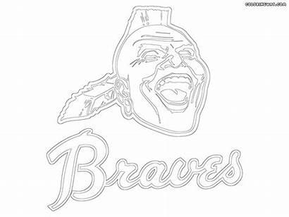 Braves Atlanta Coloring Logos Mlb Atlantabraves