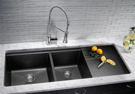 slate black undermount kitchen sinks  drainer