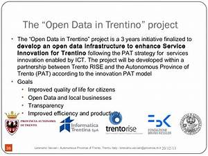 Open Data Trentino presented at the European Commission (JRC)