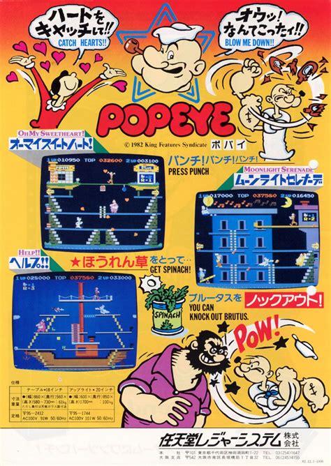 Nintendos Popeye Arcade Console Japanese Advert1982