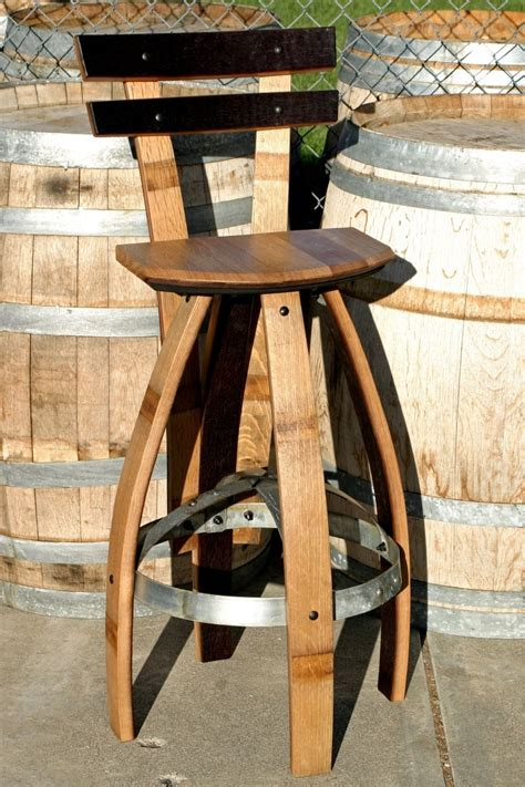 Buy A Custom Made Bar Stool With Backrest In Oak, Made To