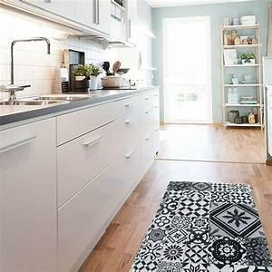 Tapis Cuisine Carreaux De Ciment : tapis de cuisine gris tapis de cuisine gris tapis de ~ Dailycaller-alerts.com Idées de Décoration
