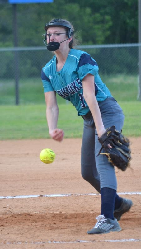 pitcher daily selections softball area whitehead alexis southside strike northside delivers freshman mitchell thomas against month last